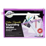 Document Mesh Wallet Extra Durable Wild Orchid A4+