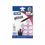 Brush Tip Fibre Tip Markers 10 Pack Milan