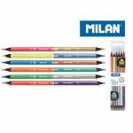 Milan Black Wood Colouring Pencils Neon & Metallic