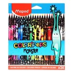 Color'peps 24 Colouring Pencils Monsters Maped