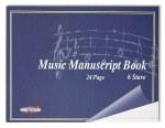 Music Manuscript A5 6 Stave 24 page