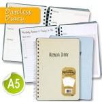 Dateless Diary A5 160 Page Wiro Open Agenda Diary