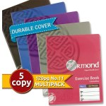 Ormond 5 Pack 120pg Copies with Durable Covers Pastel