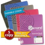 Ormond 5 Pack 88pg Copies with Durable Covers Pastel