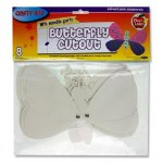 Paper Cut Outs Butterfly with Moveable Parts Packet of 8 Crafty Bitz