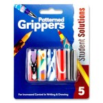 Pencil Grippers 5 Patterned
