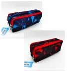 Double Zip Pencil Case Blue/Red Perfect Stationery
