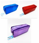 Double Zip Pencil Case Iridescent Spots Perfect Stationery