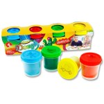 Playdough 4x140g Pots with Mould Lid World of Colour