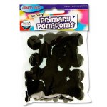 Crafty Bitz Primary Pom Poms Black