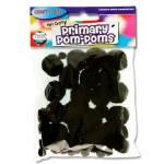 Crafty Bitz Primary Pom Poms Black