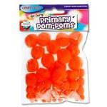 Crafty Bitz Primary Pom Poms Orange