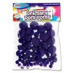Crafty Bitz Primary Pom Poms Purple