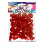 Crafty Bitz Primary Pom Poms Red