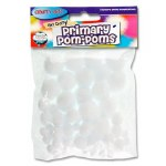 Crafty Bitz Primary Pom Poms White