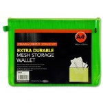 Document Mesh Wallet Extra Durable Green A4+