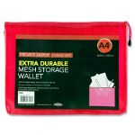 Document Mesh Wallet Extra Durable Pink A4+