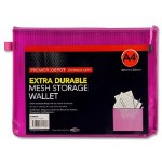 Document Mesh Wallet Extra Durable Purple A4+