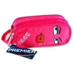 Premier Oval 3 Pocket Pencil Case Love