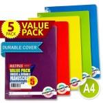 Premtone A4 Manuscript 5 Pack 120 Pages