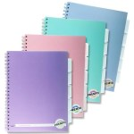 Project Copy A4 250 Pages 5 Dividers Pastel