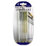 Pro:scribe 4 Gelpoint Script Gel Pens - Gold & Silver