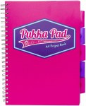 Pukka Pad Project Book A4 Vision Pink 200 Pages
