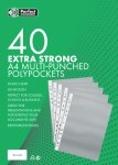 Punched Pockets 40 Extra Strong 40 Pack
