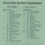 Recorder In The Classroom 2 CD