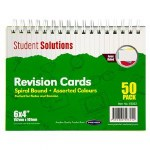 "Revision Cards Spiral Bound 6"" x 4"" Coloured"