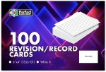 Record Cards 6X4 Plain White Perfect Stationery