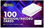 Record Cards 8x5 Plain White Perfect Stationery