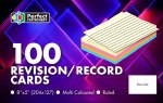 Record Cards 8x5 Ruled Colour Perfect Stationery