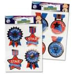 Clever Kidz Jumbo Reward Stickers 4 Pack