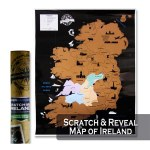 Scratch Map Ireland 55x43cm
