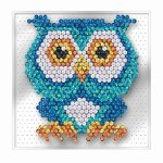 Sequin Art Pin-Free Owl