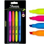 Sharpie Accemnt Pocket Highlighters 4 Pack