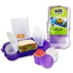 Smash Rubbish Free Lunch Box Set Bright Purple