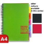 Project Copy A4 in a choice of 3 Colours 250 Page Spectre