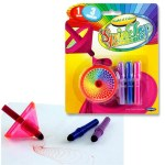 World of Colour A Spin Top & 3 Markers