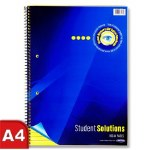 Student Solutions A4 160pg Visual Memory Aid Spiral Yellow