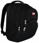 St Right School Bag 17IN Black 26 Litres