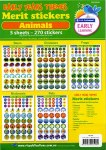 Merit Stickers Pack of 54 Early Years Animals Prim Ed