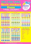 Merit Stickers A4 Sheets Pack of 270 Stars and Smileys Prim Ed