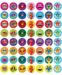 Merit Mini Stickers Pack of 280 Monsters