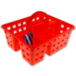 Multifunctional Storage Basket Red