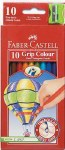 Colouring Pencils Faber Castell Triangular 10 Pack