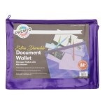 Document Mesh Wallet Extra Durable UltraViolet A4+