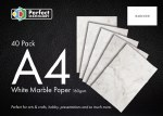 A4 Paper White Marble 40 Pack 100gsm Perfect Stationery