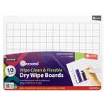 Ormond Dry Erase Boards 10 Pack - 2cm Grid